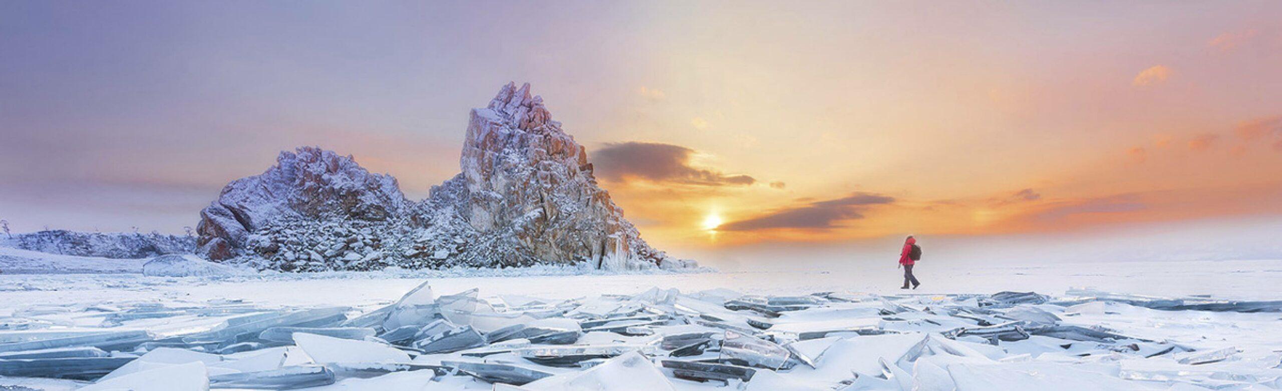 Winter auf der Insel Olchon Baikalsee